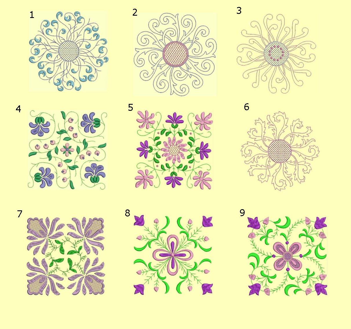 Anemone Quilt #1 Ala Carte Singles