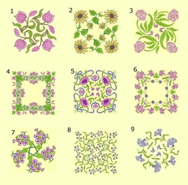 Anemone Quilt #4 Singles