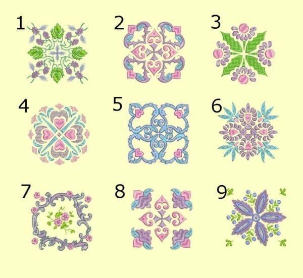 Anemone Quilt #5 Singles