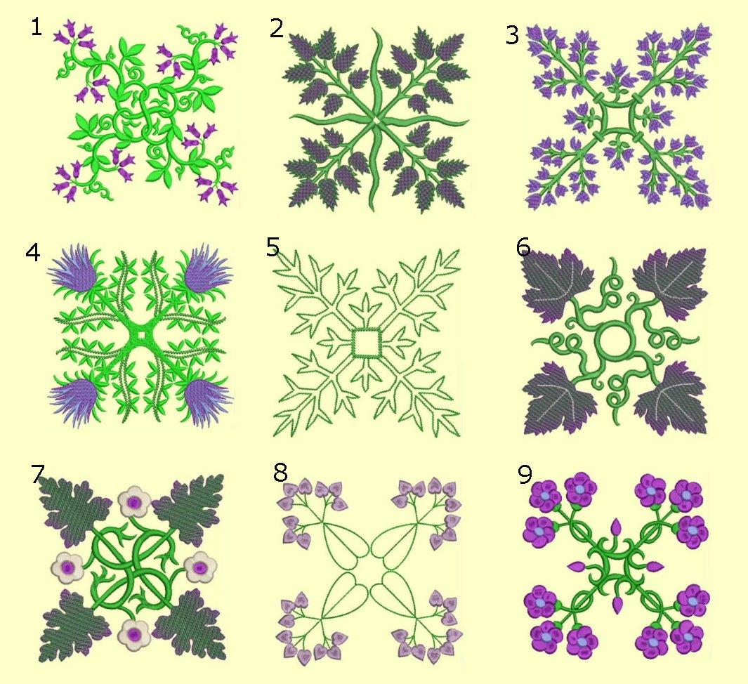 Anemone Quilt #6 Singles