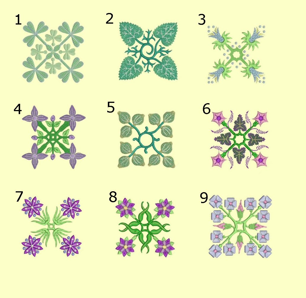Anemone Quilt #7 Singles