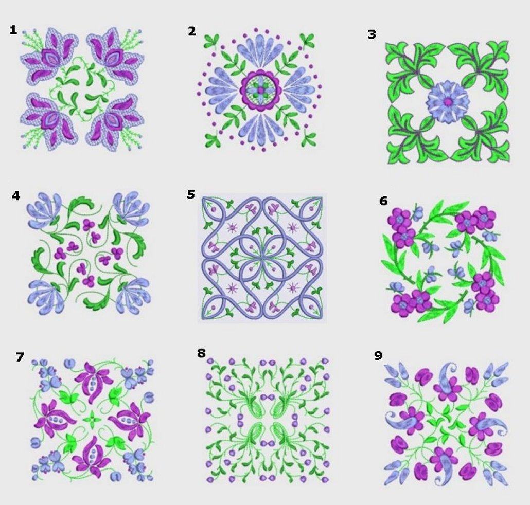 Anemone Quilt #2 Ala Carte Singles