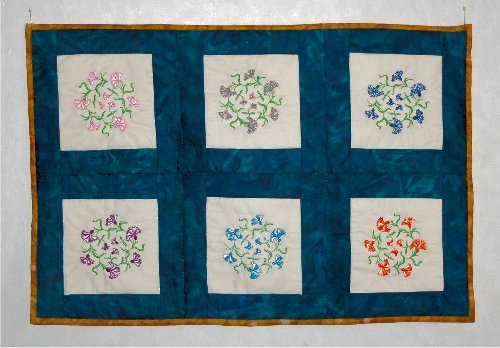 Wall hanging made by Anne from Design 9 in Anemone #4
