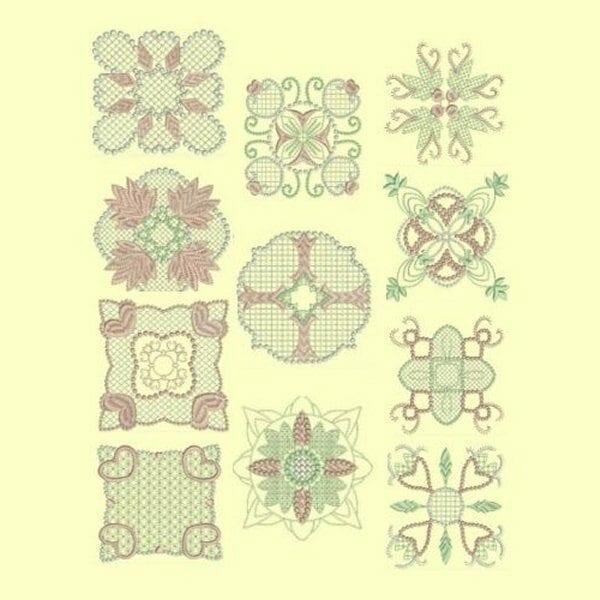 Candlewick & Satin 1 Heirloom Quilt Block design collection