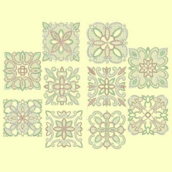 Candlewick & Satin 2 Quilt Blocks