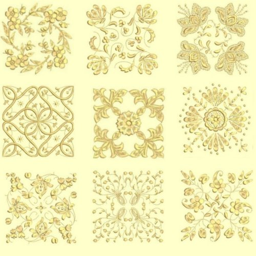 Anemone #2 Quilt Designs Tone on Tone