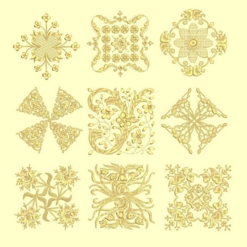 Anemone #3 designs tone on tone