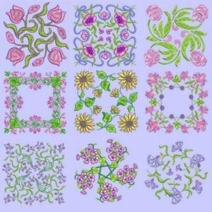 Anemone Quilt Squares #4 designs 6x6