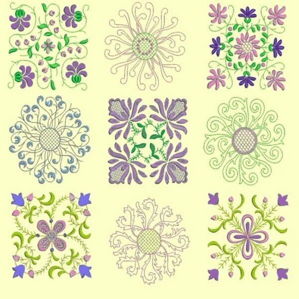 Anemone Quilt #1 Design 6x6 Set