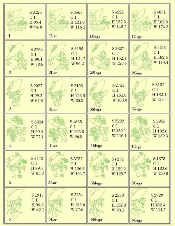 Design Info 1-Gardening Sunbonnets RW & Trapunto