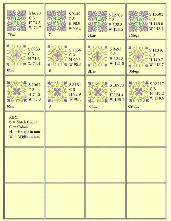 Anemone #1 Design Info Page 2