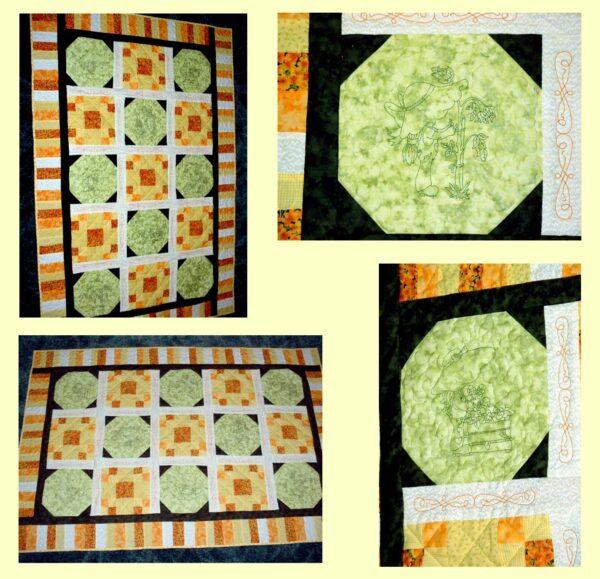 Jan's Quilt using Gardening Sunbonnets RW