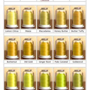 Color Family Yellow-Hemingworth embroidery thread