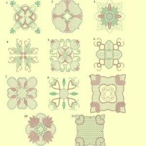 Candlewick & Satin 1 Heirloom Quilt Blocks-ala carte single designs
