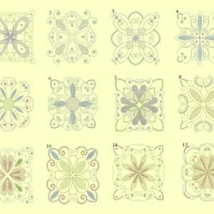 Candlewick & Satin 3 Quilt Ala Carte singles designs