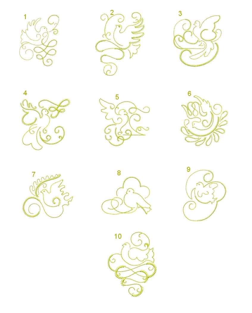 Gilded Doves Singles-ala carte designs