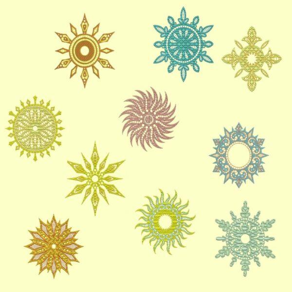 Aztec Suns bonus designs