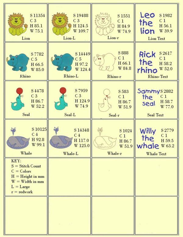 Design Info 2-Wild Animals for Kids